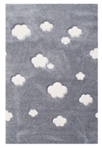 KIDS LOVE RUGS Dywan CLOUDS grey 160x230