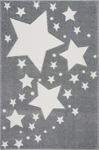KIDS LOVE RUGS Dywan MILKY WAY grey/white 160x220