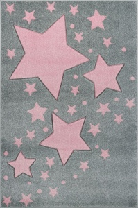 KIDS LOVE RUGS Dywan MILKY WAY grey/pink 160x220