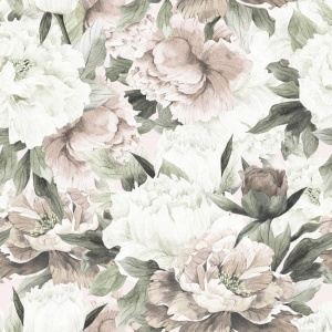 DEKORNIK Tapeta White and Pink Peonies Max