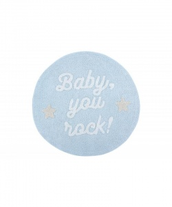 LORENA CANALS & Mr WONDERFUL Dywan bawełniany BABY, YOU ROCK!