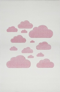 KIDS LOVE RUGS Dywan CLOUDY SKY cream/pink 160x230