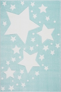 KIDS LOVE RUGS Dywan MILKY WAY mint/white 120x170