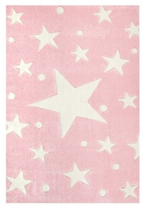 KIDS LOVE RUGS Dywan MAGIC STARS pink/white 200x300