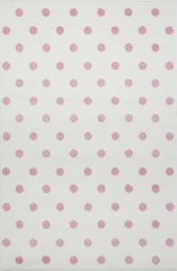 KIDS LOVE RUGS Dywan DOTS cream/pink 120x170
