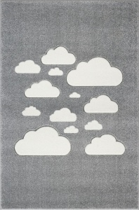 KIDS LOVE RUGS Dywan CLOUDY SKY grey/white 160x230