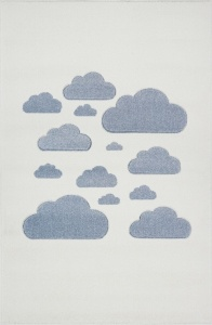 KIDS LOVE RUGS Dywan CLOUDY SKY cream/blue 120x170