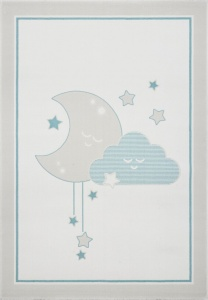 KIDS LOVE RUGS Dywan MOON&CLOUD blue 120x170