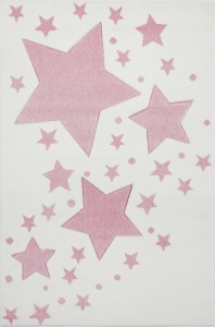 KIDS LOVE RUGS Dywan MILKY WAY cream/pink 120x170