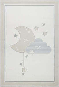 KIDS LOVE RUGS Dywan MOON&CLOUD grey 120x170