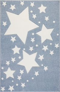 KIDS LOVE RUGS Dywan MILKY WAY blue/white 120x170